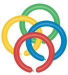 Balónky modelovací D4/80 – pastelová mix barev, 100 ks
