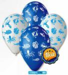 Balónky s potiskem – mořský svět #80 – pastelová mix barev, 50 ks
