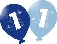 Balónky narozeniny 5ks s číslem 1 pro kluky