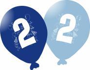 Balónky narozeniny 5ks s číslem 2 pro kluky