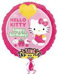 Hello Kitty narozeniny - hrající balónek 71cm