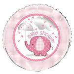 Růžový slon - fóliový balónek 45,1 cm