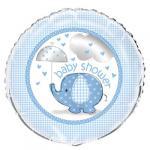 Modrý slon foliový balónek 45,1 cm modrý