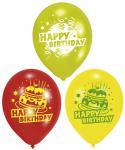 Balónky - Happy birthday, dort, 6 ks