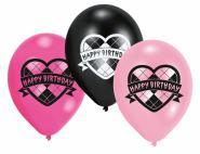 Monster High balonky s potiskem - Happy Brithday, 6 ks