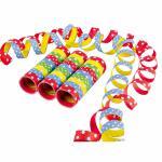 Serpentýny puntíkaté barevné 3 ks