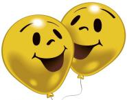 Balónky s potiskem smajlík, 8 ks barva žlutá