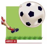 Balónek fotbal,8 ks