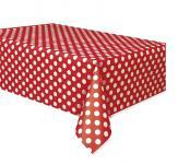 Ubrus červeno - bílé tečky 137 x 274cm