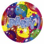 Talíře balon party 8ks 18cm