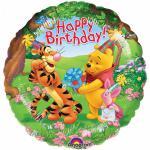 Medvídek Pú narozeniny foliový balonek 43 cm