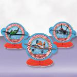 Letadla Disney dekorace na stůl 3ks