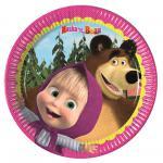 Máša a medvěd talíře 20 cm 8 ks