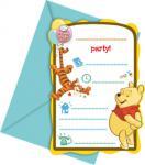 Medvídek Pú pozvánky na party 6ks