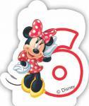 Minnie svíčka narozeniny číslo 6