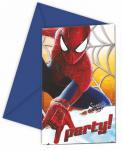 Spiderman 2 pozvánky na party 6ks