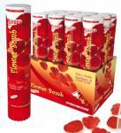 Vystřelovací konfety - květy červené 30cm