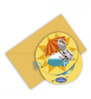 Frozen Olaf pozvánky na narozeniny 6ks