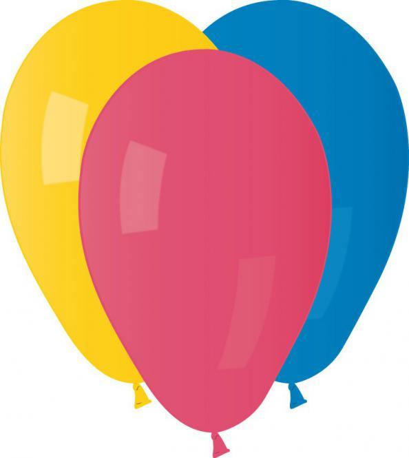 Balónky pastelová mix barev, 100 ks