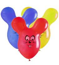Balónky myš – pastelová mix barev, 50 ks