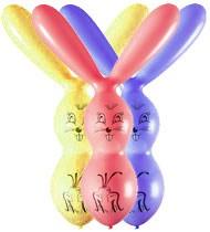 Balónky zajíc – pastelová mix barev, 50 ks