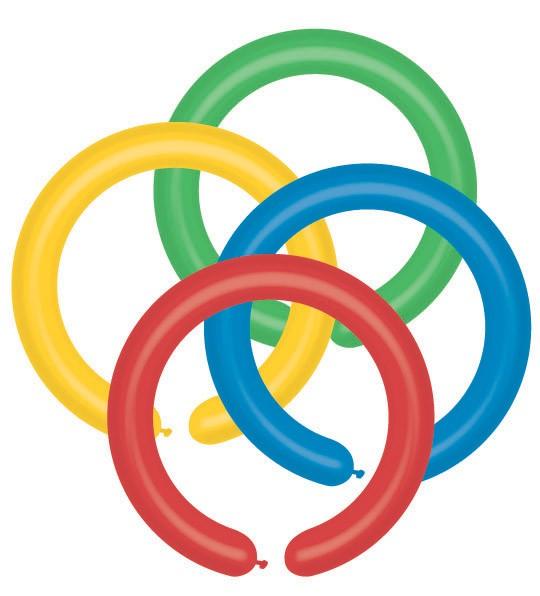 Balónky modelovací D2/80 – pastelová mix barev, 100 ks