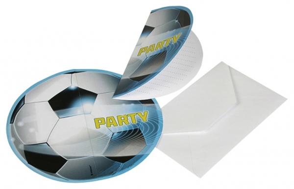 Fotbal pozvánky na party 6ks