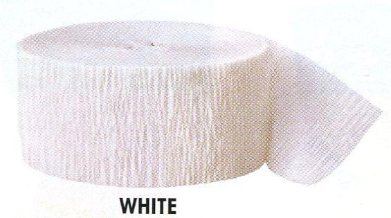 Krepový papír White 24,6m x 4,4cm