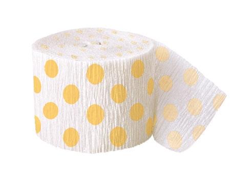 Krepový papír žluto - bílý