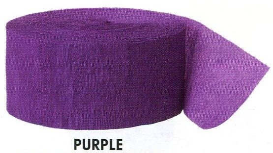 Krepový papír Purple 24,6m x 4,4cm