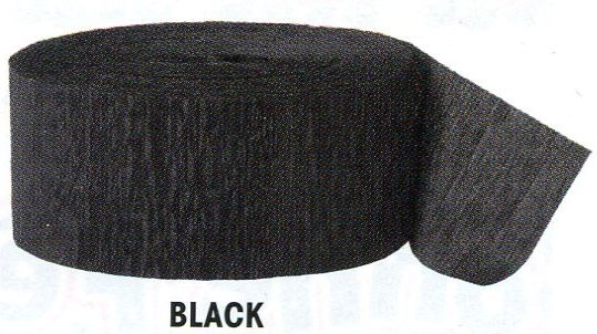 Krepový papír Black 24,6m x 4,4cm