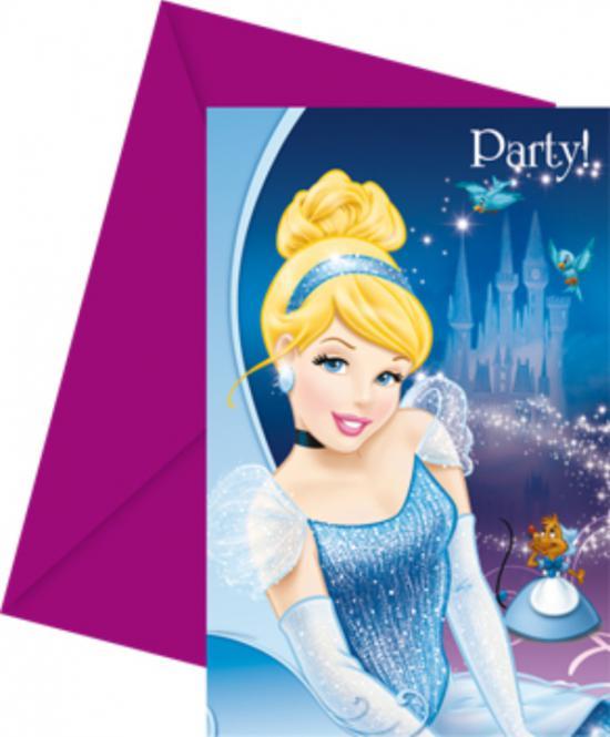 Popelka Disney pozvánky 6ks